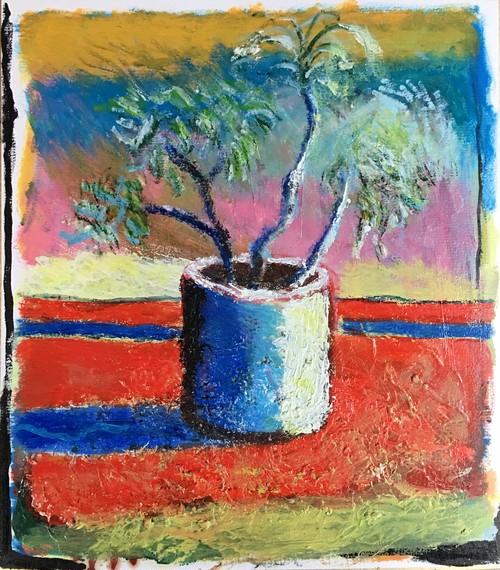 太久磨「自画像としての植物 色紙3」