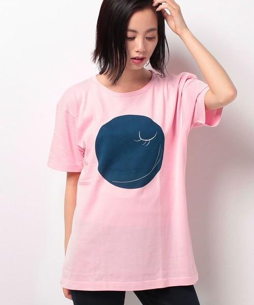 #350 Tシャツ INDIGO SMILE 0/PNK