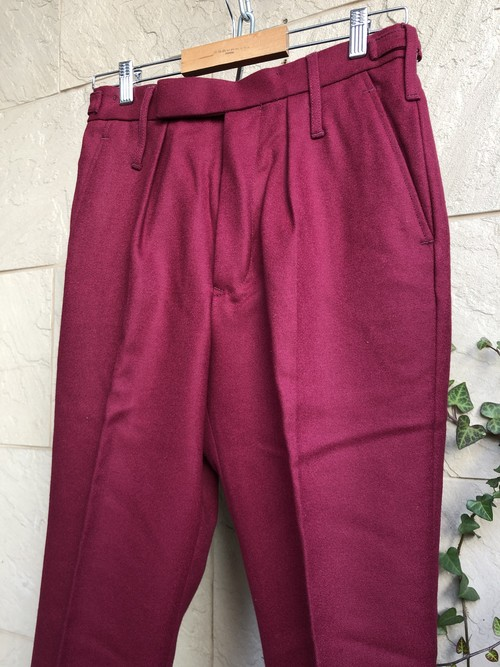 Deadstock British army No.2 dress trousers Burgundy color
