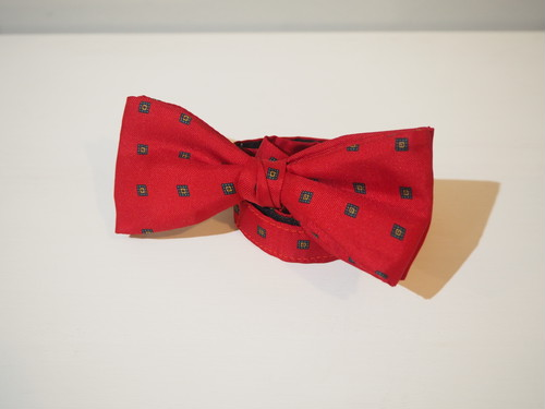 HOUSE OF FRASER Fine Patterned Bow-Tie / Made in England