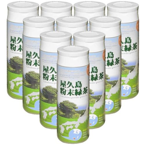 """《 私たちが作った""""粉末緑茶""""です 》屋久島自然栽培茶「パウダーティー」 80g入りボトル10本 【無農薬・無化学肥料・農薬無飛散】"""