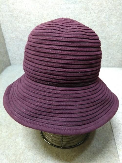 ランバン LANVIN 帽子 57〜55.5cm ボルドー u1437j