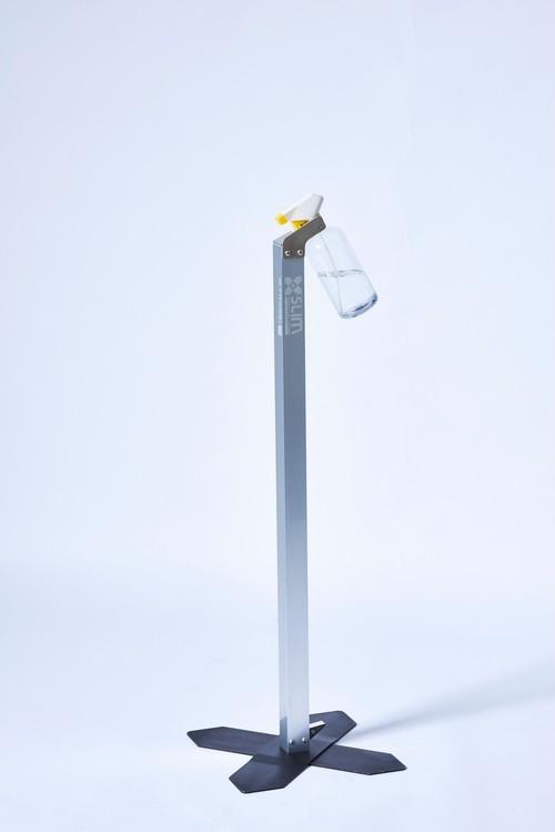 足踏み式除菌スタンド Slim(スプレー容器タイプ)