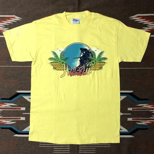 90's Hanes HAWAII SURF ハワイ サーフ サーフィン ビンテージ Tシャツ デッドストック(イエロー,M)