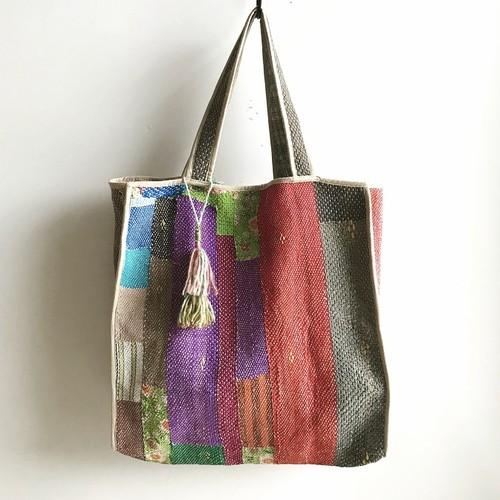 タッセル付 Antique 'Sashiko' Bag #4
