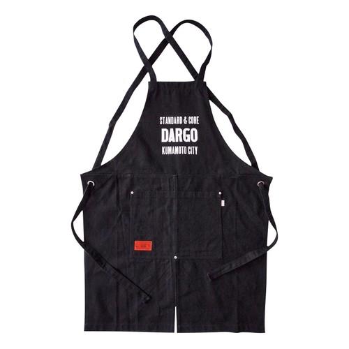 "【DARGO】""活版 Logo"" 12oz Canvas Apron (BLACK × WHITE)"