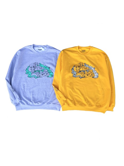 QUEST x SEAR COLAB CREWNECK SWEAT. SUPPROT BY REVERSE