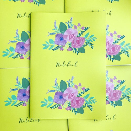 B5 Floral pattern notebooks (2冊セット)