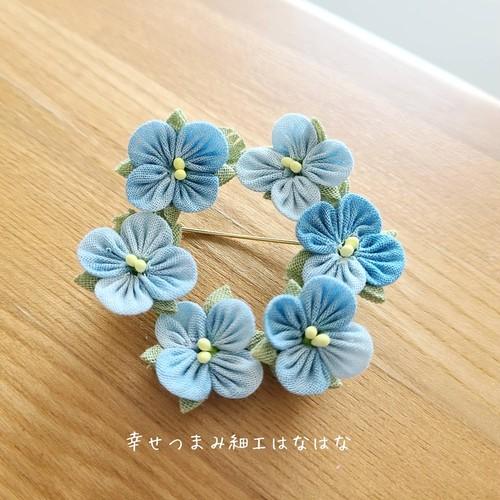 オオイヌノフグリ 花束ミニブローチ&リングブローチ