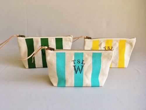 TSL for WOMAN stripe pouch S/ストライプポーチS
