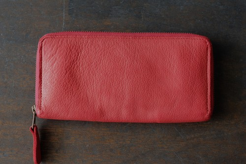 CHRISTIAN PEAU WALLET buffalo d.red