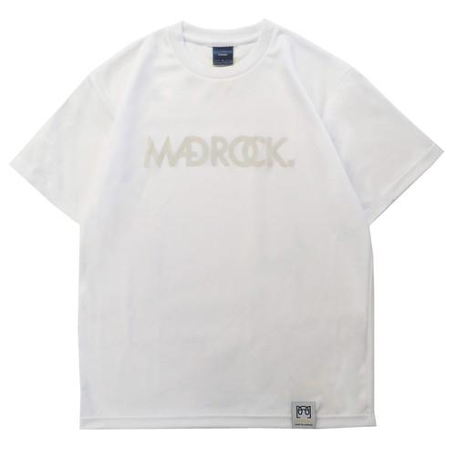 【新作/オンラインストア限定】マッドロックロゴ Tシャツ / ドライタイプ / ホワイト & ココナッツ