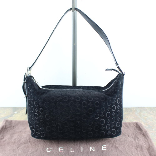 .OLD CELINE MACADAM PATTERNED LEATHER SEMI SHOULDER BAG MADE IN ITALY/オールドセリーヌマカダム柄レザーセミショルダーバッグ 2000000049410