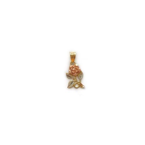 【14K-1-22】14K gold rose charm