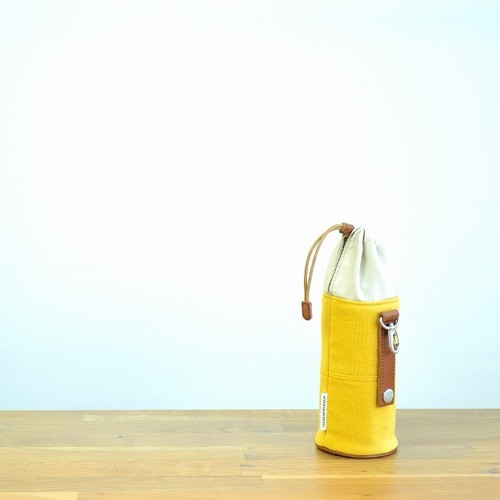 CANVAS PETBOTTLE HOLDER / MUSTARD