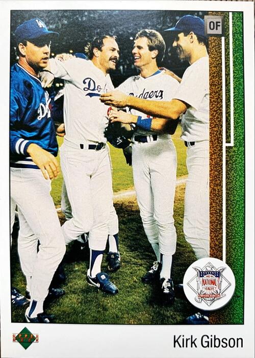 MLBカード 89UPPERDECK Kirk Gibson #662 DODGERS MVP