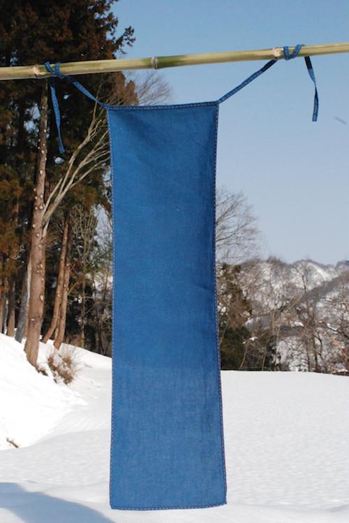 藍染めヘンプコットンの手縫いふんどし