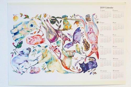 【つながりつながる】ポスターカレンダー 2019