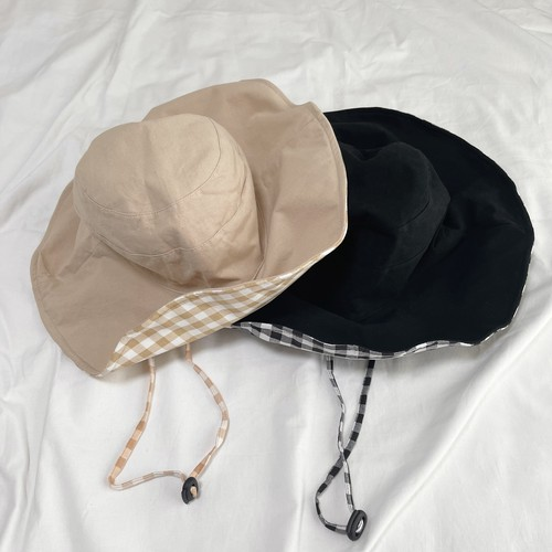 ME4056 Gingham Check Hat