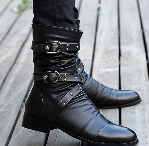 【おすすめ】[Formanism] カジュアル エンジニア ライダース スタッズ メンズ ブーツ