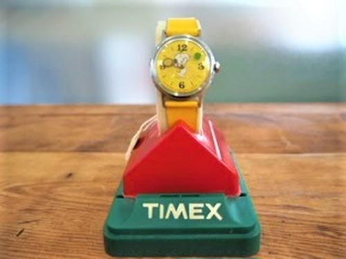 品番0750 タイメックス製 ヴィンテージ腕時計(黄) 011