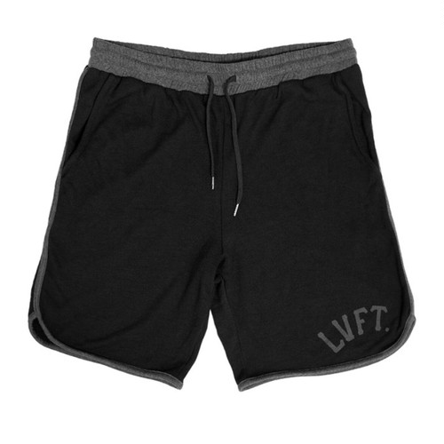 LIVE FIT Varsity Terry Short - Black