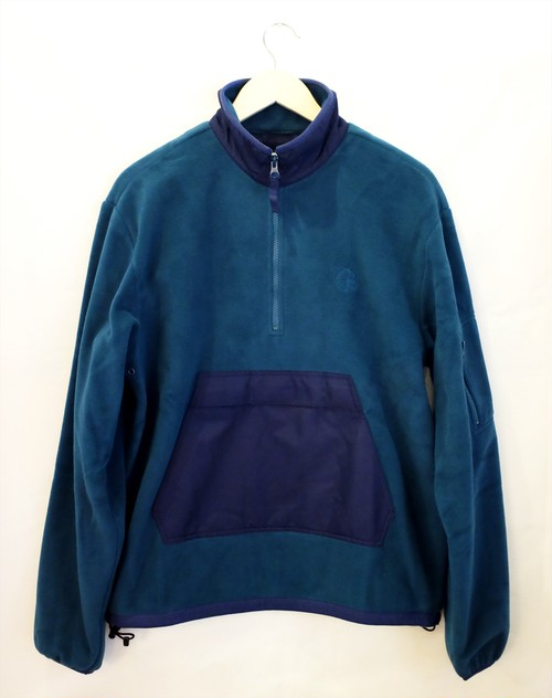POLAR SKATE CO. GONZALEZ FLEECE JACKET GREEN NAVY ポーラー フリースジャケット