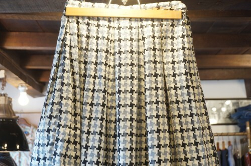 50's houndstooth woven cloth Skirt
