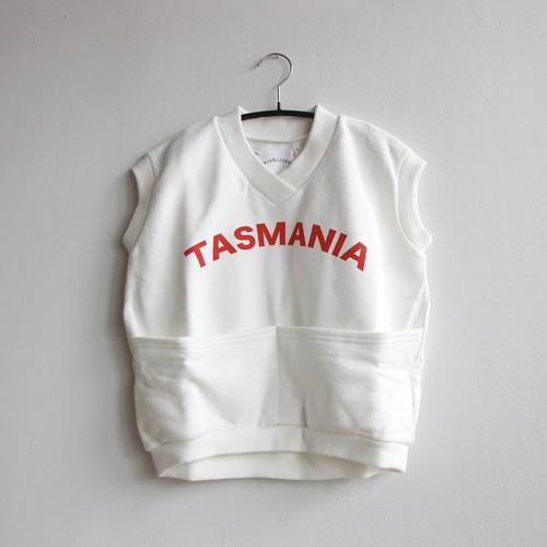 《michirico 2021SS》TASMANIA sleeveless tops / white × red logo / L・XL・XXL