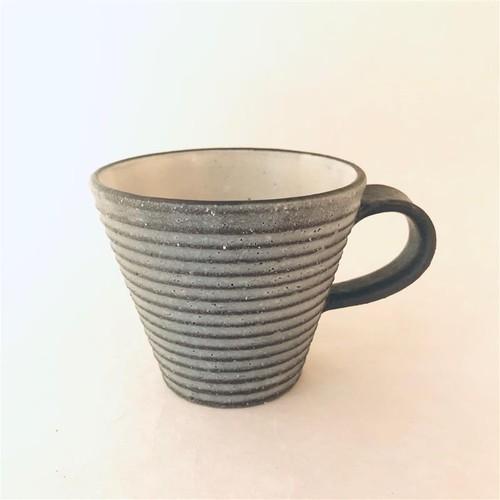 沖誠3-7 炭化ボーダーマグカップ