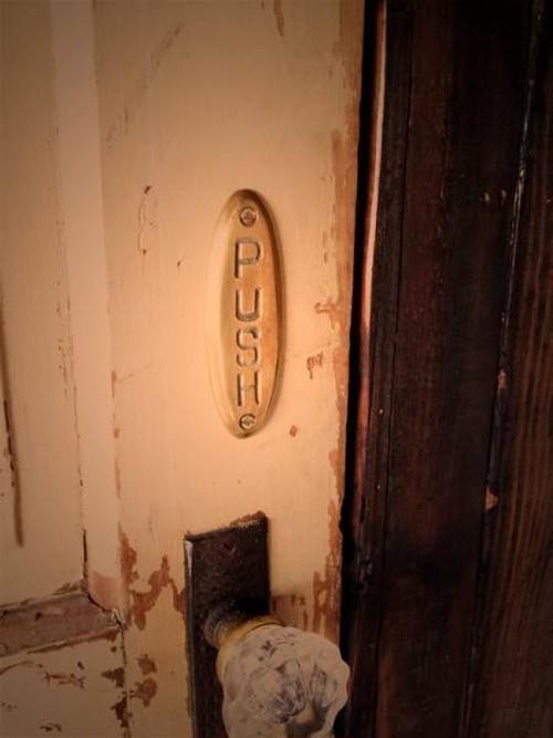 数量限定 PP-G PULL PUSH セット ドアサイン 真鍮 ブラス 押す 引く プレート プル プッシュ ハンドメイド 看板 表示