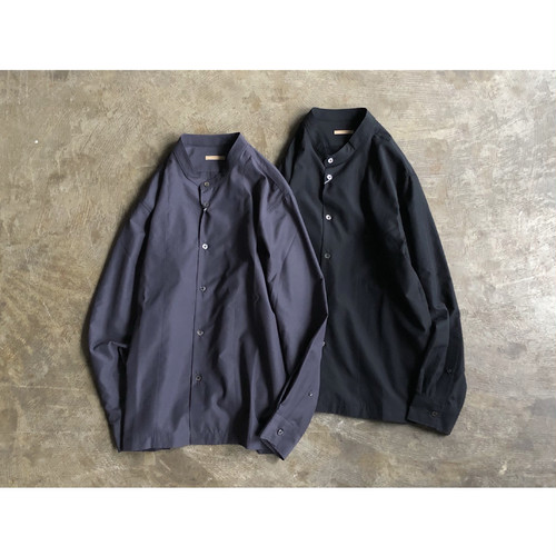 LAMOND (ラモンド) Wide Fit Band Collar Shirts
