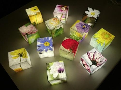 Heartful Cube Candle (コイン電池タイプ)