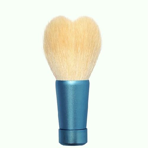 ハート型洗顔ブラシ 中 ホワイト/ブルー軸