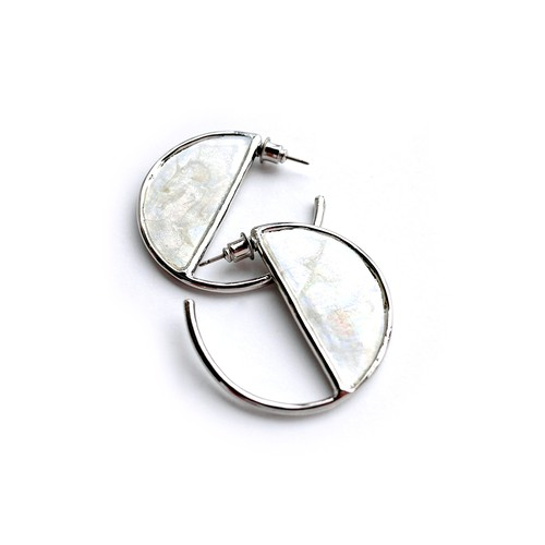 MAR Earrings SILVER/WHITE
