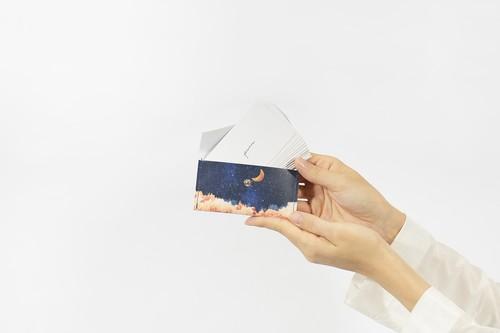 【NEW】夜空と三日月の、カードケース