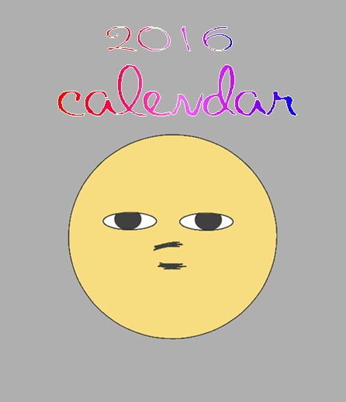 卓上カレンダー2016年(創世主・貧乏神)