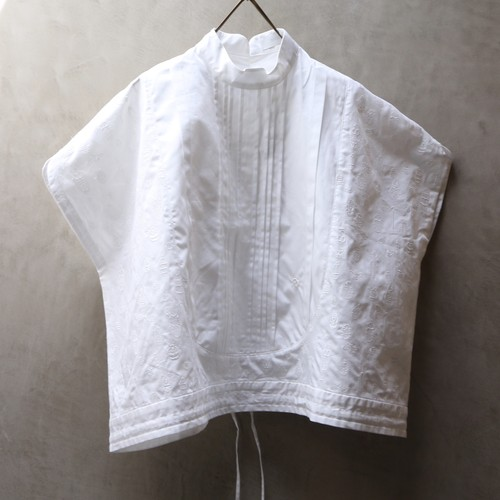 ASEEDONCLOUD アシードンクラウド classic blouse insect embroidery white  #211603