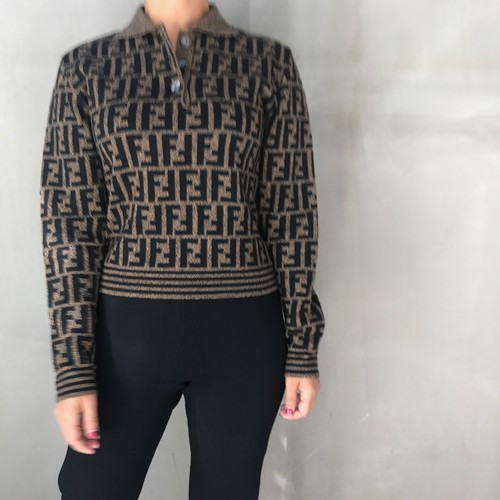 FENDI zukka print sweater