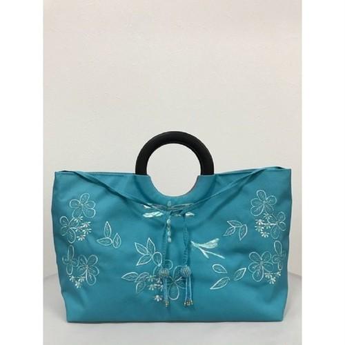 ベトナムバッグ 刺繍 ビーズ ハンドバッグ 手提げ 鞄 両面刺繍 ベトナム雑貨