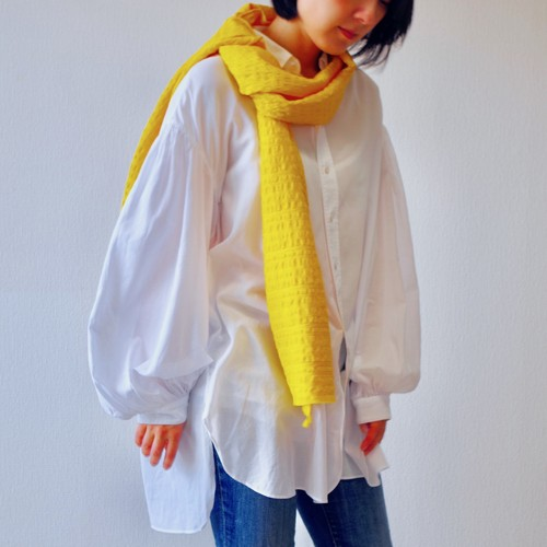 フィルタンゴストール 西洋更紗柄 オレンジイエロー 京都 丹後の絹織物