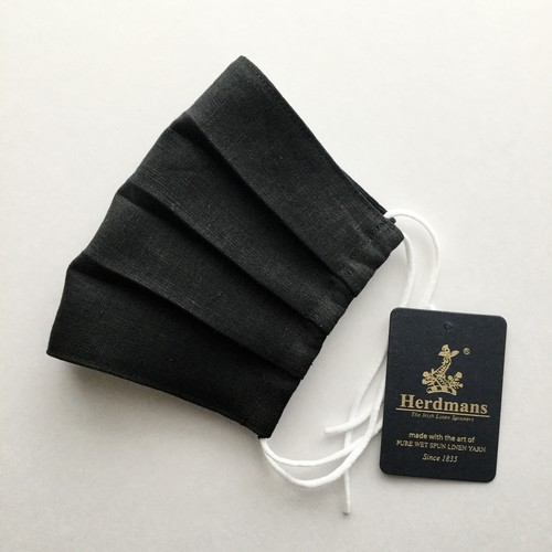 Herdmans Linen(ハードマンズリネン)の夏マスク/ブラック