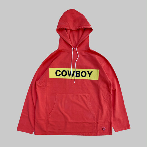 COWBOY Hooded L/S Tshirt -RED-