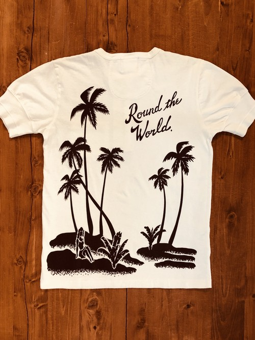 【BY GLADHAND】ROUND THE WORLD - S/S HENRY NECK T-SHIRT