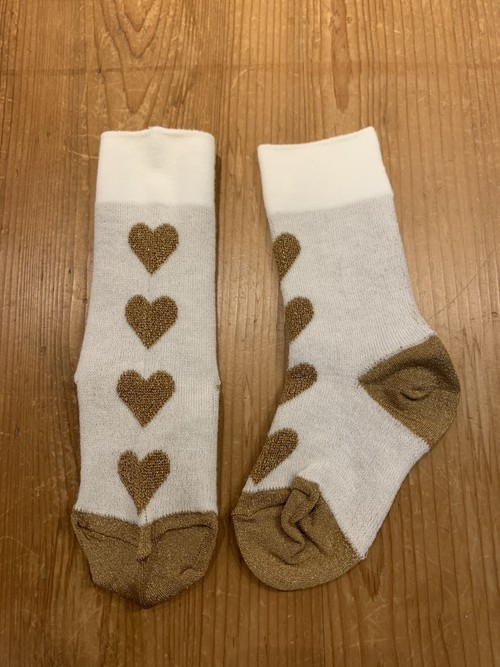KIDS&WOMENS:melt  【メルト】 LOVE LOVE LOVEソックス(ホワイト/S〜Mサイズ)