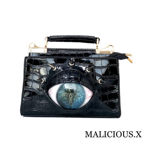 reptelis eye shoulder & handbag / smoke blue