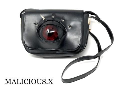 devil eye shoulder bag / red
