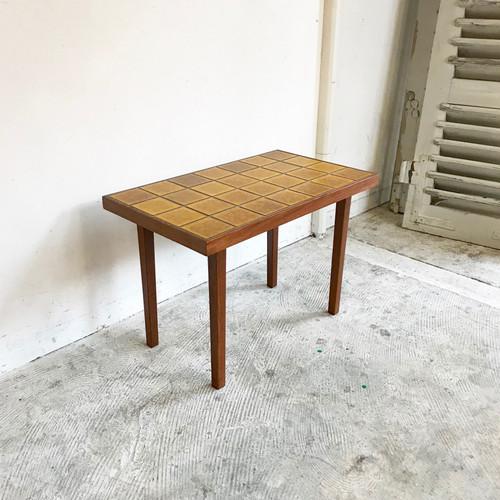Vintage Teakwood Tile Top Side Table オランダ / Large