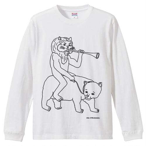 【送料無料】Purson's Stomp 長袖Tシャツ / 白