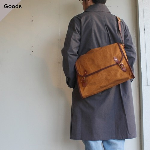 vasco CANVAS  MAILSHOULDER BAG -LARGE VS-258 カーキ